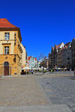 Old Town and Market Square in Poland, Europe, WROCLAW, POLAND - 12.09.2016 Stock Photography