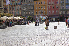 Old Town and Market Square in Poland, Europe, WROCLAW, POLAND - 12.09.2016 Royalty Free Stock Photos