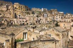 Old town. Matera. Basilicata. Apulia or Puglia. Italy. Old houses in the sassi. Matera. Basilicata. Apulia or Puglia . Italy royalty free stock image