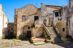 Old town. Matera. Basilicata. Apulia or Puglia. Italy. Old houses in the sassi. Matera. Basilicata. Apulia or Puglia . Italy royalty free stock photo