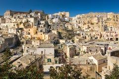 Old town. Matera. Basilicata. Apulia or Puglia. Italy. Old houses in the sassi. Matera. Basilicata. Apulia or Puglia . Italy royalty free stock photos