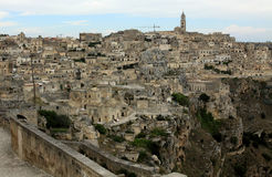 Old town of Matera. In Basilicata Italy Stock Image