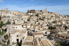Old town in Matera Royalty Free Stock Photo