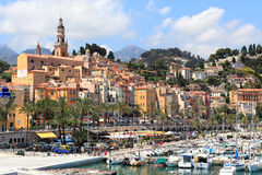 Old town. Menton, France. Stock Image