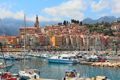 Old town of Menton, France. Royalty Free Stock Photos