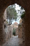 Old town Monemvasia. Lovely street in old town Monemvasia royalty free stock images