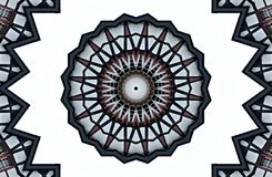 The old town of Monschau in germany  seen through kaleidoscope  Royalty Free Stock Photo