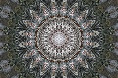 The old town of Monschau in germany  seen through kaleidoscope Royalty Free Stock Image