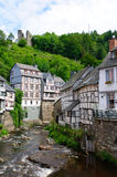 The old town of Monschau in Germany Stock Photography