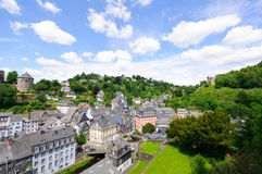 The old town of Monschau in Germany Stock Photo