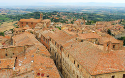 Old town Montepulciano, Tuscany, Italy Royalty Free Stock Photos