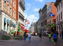 Old town in Montreal, Canada stock photography