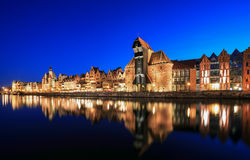 Old town on Motlawa in Gdansk Royalty Free Stock Image