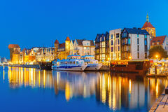 Old Town and Motlawa River in Gdansk, Poland Royalty Free Stock Photo