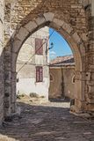 Old town of Motovun, Istria, Croatia. Arch in a town wall in the old town of Motovun, Istria, Croatia royalty free stock image