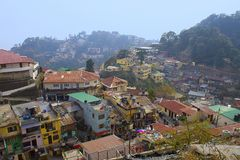 Old town of Mussoorie, Uttarakhand stock image
