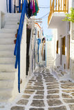 Old town on Mykonos island, Cyclades, Greece Stock Image