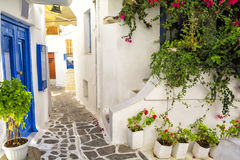 Old town on Naxos island, Cyclades, Greece Royalty Free Stock Image