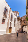 Old Town near the Cathedral of Valencia Royalty Free Stock Images