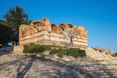 Old Town Nessebar Ancient Ruins Two Stock Image