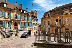 Old town of Neuchatel stock image