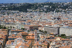 Old Town of Nice, aerial view Royalty Free Stock Photography