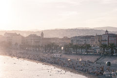 Old town of Nice, France. Image showing the old town of Nice, France and the sea Stock Image