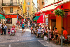 Old town of Nice, France. Stock Images