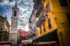 Old Town (Nice, France). Street scene in Old Nice on a May night royalty free stock photo