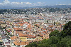 Old town of Nice in french riviera seen from above Stock Photo