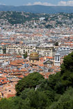 Old town of Nice in french riviera seen from above Royalty Free Stock Image