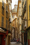 Old Town of Nice, narrow street, France Royalty Free Stock Image