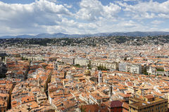 Old Town of Nice seen from Castle Hill Stock Photo