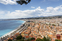 Old town of Nice seen from the Hill Stock Images
