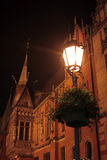 Old town by night Stock Photography
