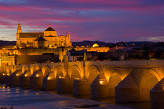 Old town at night Cordoba, Spain Stock Image