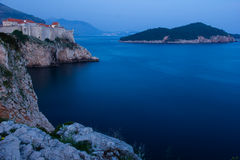 Old town at night. Dubrovnik. Croatia Stock Images