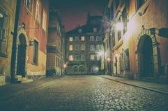 Old Town at night. Royalty Free Stock Photos