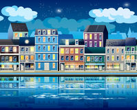 Old Town at night Royalty Free Stock Image