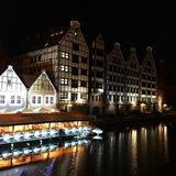 Old town nights River home Royalty Free Stock Photos