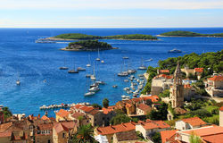 Old Town nof Coastal City with Harbour Royalty Free Stock Photo