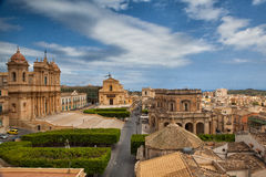 In old town Noto Stock Photo