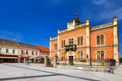 Old town in Novi Sad - Serbia. Architecture travel background Stock Photos