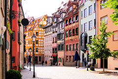 Old Town, Nuremberg. Half-timbered houses of the Old Town, Nuremberg, Germany Royalty Free Stock Photography
