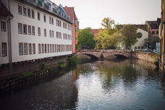 Old town of Nuremberg over Pegnitz, Bavaria, Germany. Royalty Free Stock Photos