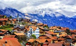 Old town Oberried, Brienz, Interlaken, Switzerland Stock Photo