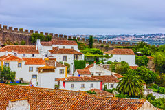 Old town Obidos in Portugal Stock Images