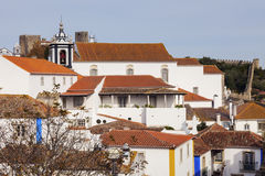 Old Town in Obidos, Portugal Royalty Free Stock Images
