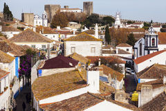 Old Town in Obidos, Portugal Royalty Free Stock Image