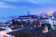 Old Town in Obidos, Portugal Stock Images